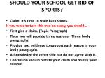 should your school get rid of sports