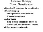 aversive therapy covert sensitization