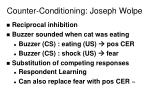 counter conditioning joseph wolpe