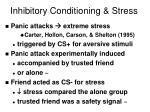 inhibitory conditioning stress