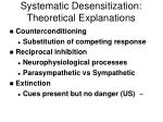 systematic desensitization theoretical explanations