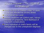 chronic disease the nature of the challenge