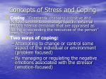 concepts of stress and coping