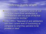 defining quality of life1