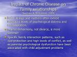 impact of chronic disease on family relationships garrison mcquiston 1989