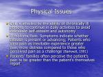 physical issues