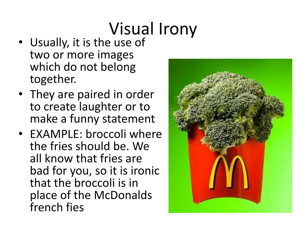Ppt Visual Irony Powerpoint Presentation Free Download Id 6694933
