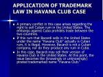 application of trademark law in havana club case
