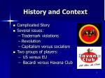 history and context