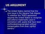 us argument