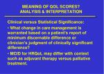 meaning of qol scores analysis interpretation6