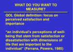 what do you want to measure4