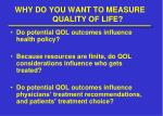 why do you want to measure quality of life2