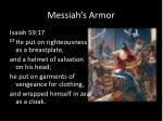 messiah s armor