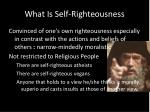 what is self righteousness