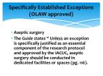 specifically established exceptions olaw approved3