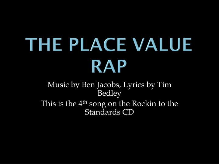 the place value rap n.