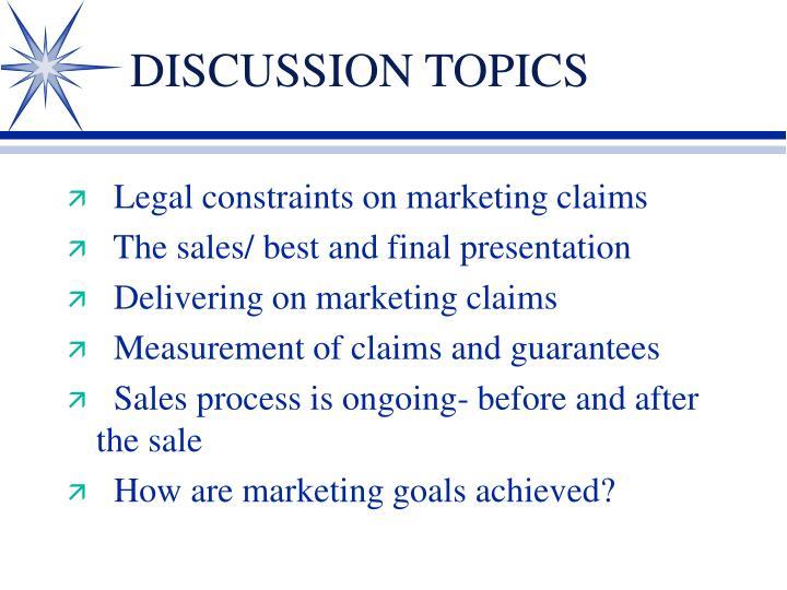 Discussion topics1