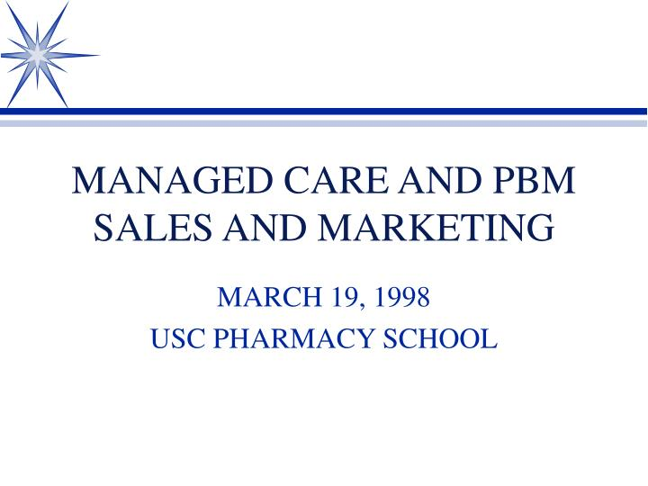 managed care and pbm sales and marketing n.