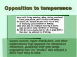 opposition to temperance