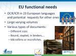 eu functional needs