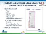 highlight on the fedaso added value in the process ocr icr segmentation