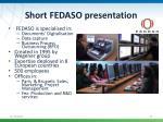 short fedaso presentation