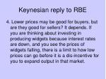 keynesian reply to rbe3