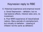 keynesian reply to rbe5