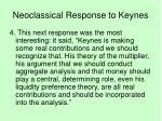 neoclassical response to keynes