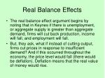 real balance effects