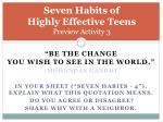 seven habits of highly effective teens preview activity 3