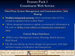 feature pack 1 constituent web service
