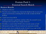 feature pack 1 external search match