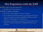 our experience with the eap