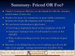 summary friend or foe