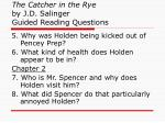 the catcher in the rye by j d salinger guided reading questions1