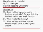 the catcher in the rye by j d salinger guided reading questions12