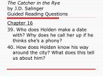 the catcher in the rye by j d salinger guided reading questions14