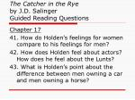 the catcher in the rye by j d salinger guided reading questions15