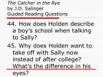 the catcher in the rye by j d salinger guided reading questions16
