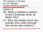 the catcher in the rye by j d salinger guided reading questions17