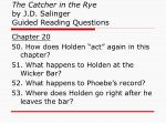 the catcher in the rye by j d salinger guided reading questions19