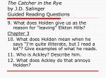 the catcher in the rye by j d salinger guided reading questions2