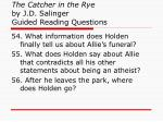 the catcher in the rye by j d salinger guided reading questions20
