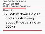 the catcher in the rye by j d salinger guided reading questions21