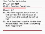 the catcher in the rye by j d salinger guided reading questions22
