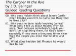 the catcher in the rye by j d salinger guided reading questions23