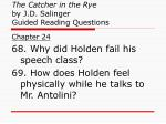 the catcher in the rye by j d salinger guided reading questions25