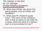 the catcher in the rye by j d salinger guided reading questions26